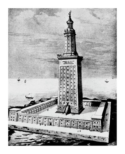 Wall Art - Photograph - The Pharos Of Alexandria Lighthouse by Science Photo Library