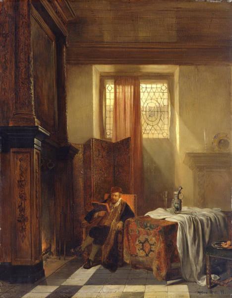 Fireplace Painting - The Philosopher by Hubertus van Hove