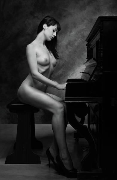 Piano Photograph - The Piano II by Luc Stalmans