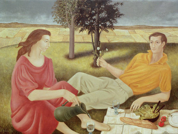 Dining Al Fresco Painting - The Picnic by Patricia O'Brien