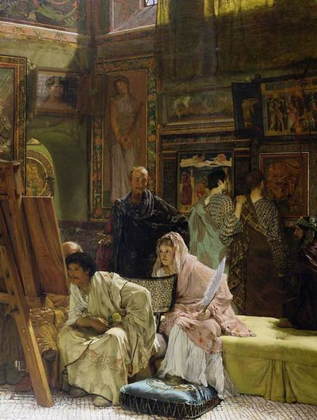 Painting - The Picture Gallery, 1874 by Sir Lawrence Alma-Tadema