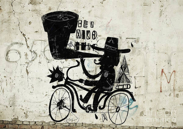 Animation Wall Art - Photograph - The Picture Shows A Man Who Rides A by Dmitriip