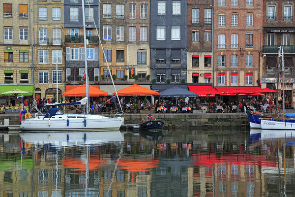 Sailboat Photograph - The Picturesque Harbor Of Honfleur by Louise Heusinkveld