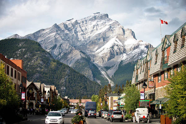 Wall Art - Photograph - The Picturesque Town Of Banff, Canada by Rob Hammer