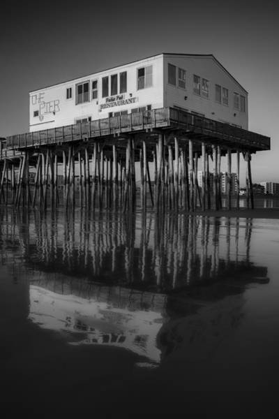 Photograph - The Pier Bw by Susan Candelario