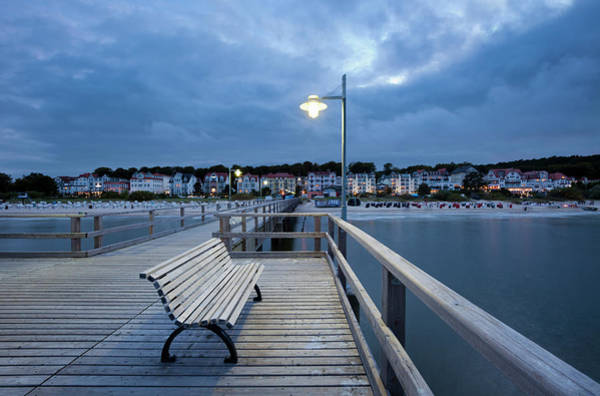Pier Photograph - The Pier Of Bansin At Dawn by Jorg Greuel