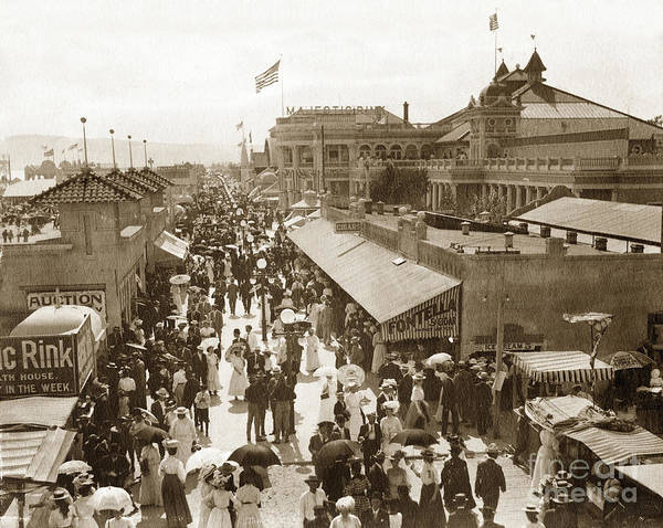 Photograph - The Pike Long Beach California 1915 by California Views Archives Mr Pat Hathaway Archives