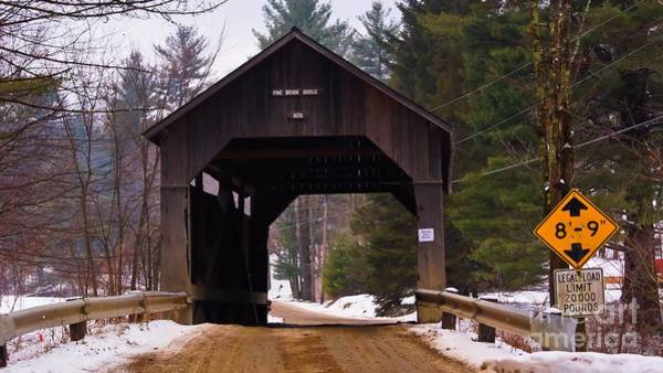 Waitsfield Photograph - The Pine Brook Covered Bridge. by New England Photography