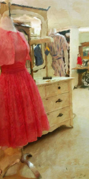 Impasto Photograph - The Pink Dress by Bonnie Bruno