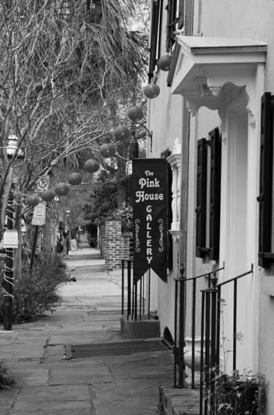 Wall Art - Photograph - The Pink House Gallery - Black And White by Suzanne Gaff