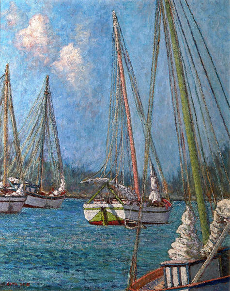 Painting - The Pink Mast by Ritchie Eyma