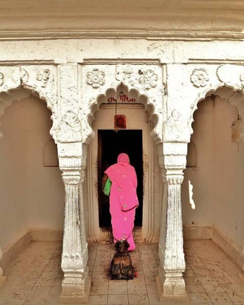 Photograph - The Pink Sari by Kim Bemis