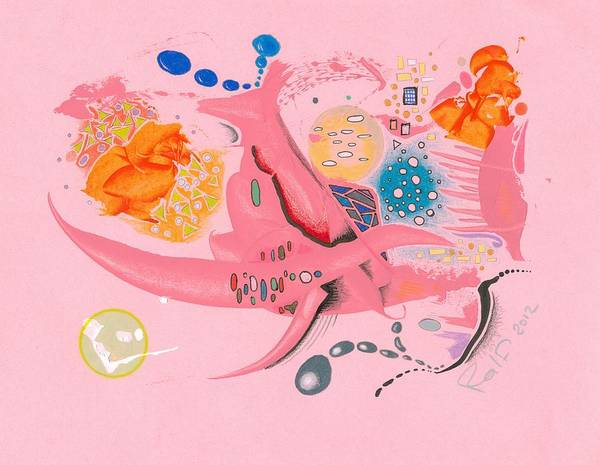 Crazy Mountains Painting - The Pink Space by Ralf Schulze