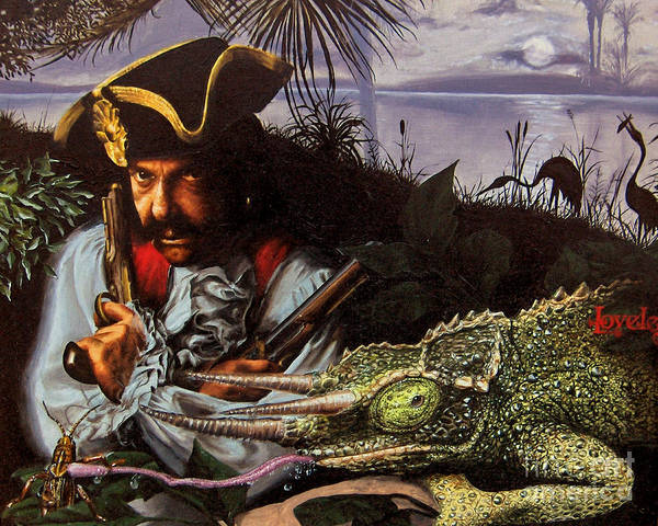 Pirate Painting - The Pirate by James Loveless