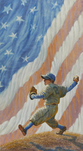Jackie Robinson Wall Art - Painting - The Pitcher by Gregory Perillo