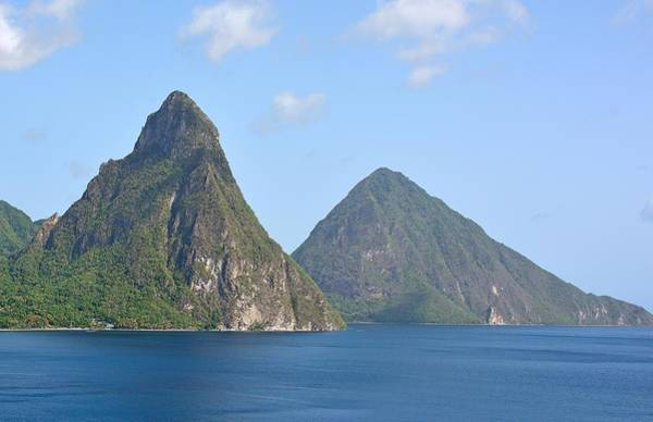 Saint Lucia Photograph - The Pitons - St. Lucia by Brendan Reals