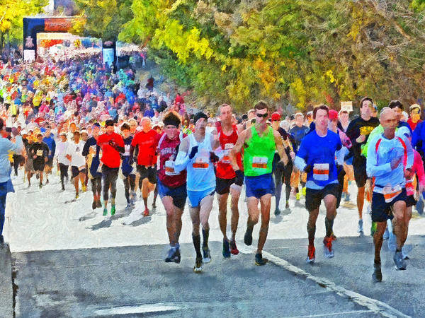 Digital Art - The Pittsburgh Eqt 10 Miler. 2 by Digital Photographic Arts