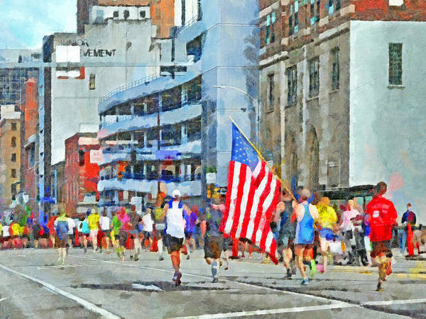 Digital Art - The Pittsburgh Marathon  by Digital Photographic Arts