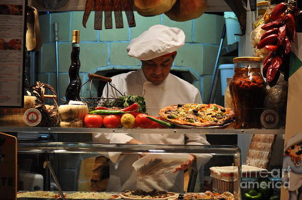 Pizza Photograph - The Pizza Maker by Mary Machare