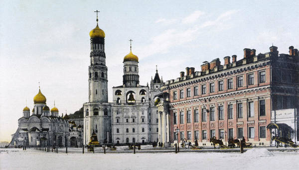 Imperial Russia Photograph - The Place Imperiale In The  Kremlin by Mary Evans Picture Library