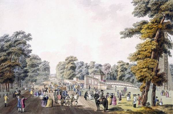 Park Avenue Wall Art - Drawing - The Place Of The Fireworks At Prater by Johann Ziegler