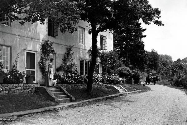 Driveway Photograph - The Platt's House In New Jersey by Samuel H. Gottscho