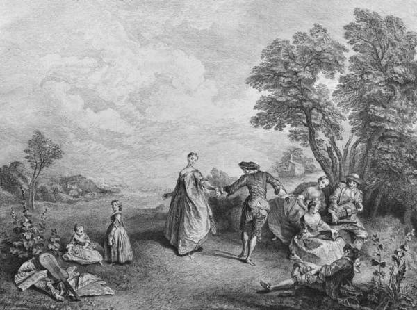 Pleasure Wall Art - Drawing - The Pleasures Of The Countryside by Nicolas Lancret