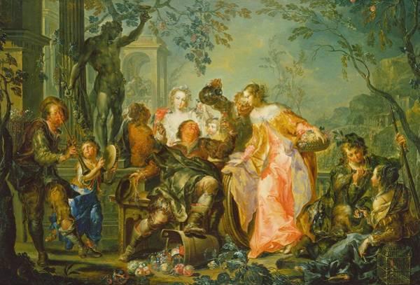 Pleasure Wall Art - Painting - The Pleasures Of The Seasons   Autumn by Johann Georg Platzer