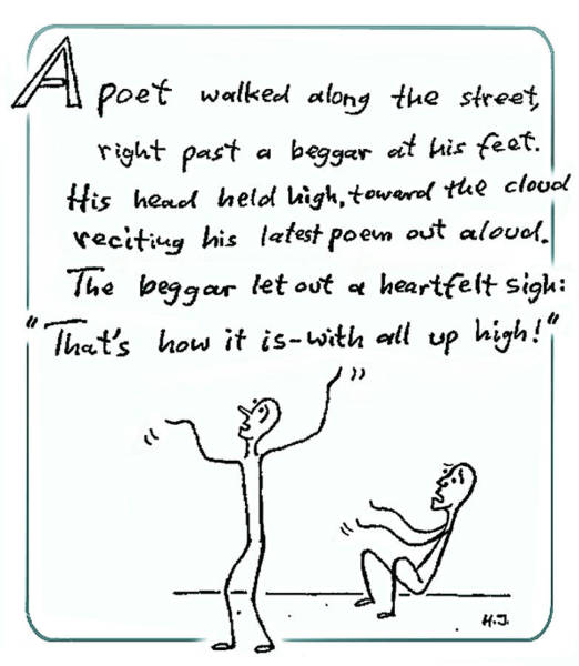 Drawing - The Poet And The Beggar by Hartmut Jager