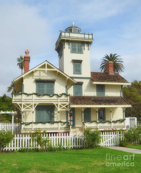 Photograph - The Point Fermin Lighthouse by Donna Greene
