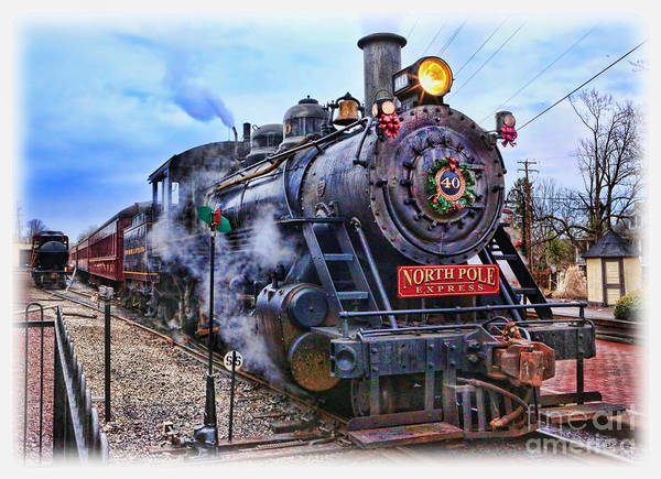 Wall Art - Photograph - The Polar Express - Steam Locomotive II by Lee Dos Santos