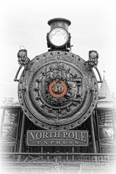 Wall Art - Photograph - The Polar Express - Steam Locomotive Iv by Lee Dos Santos