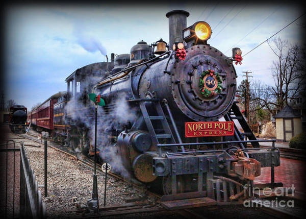Wall Art - Photograph - The Polar Express - Steam Locomotive by Lee Dos Santos