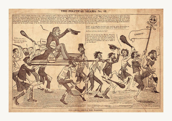 Old Style Drawing - The Political Drama. No. 61 by English School