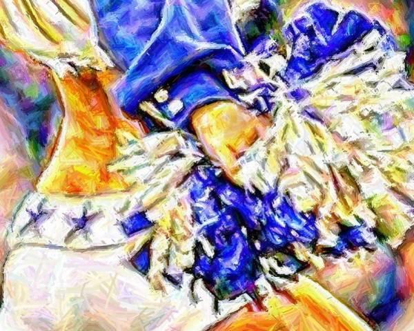 Cheerleaders Digital Art - The Pom by Carrie OBrien Sibley
