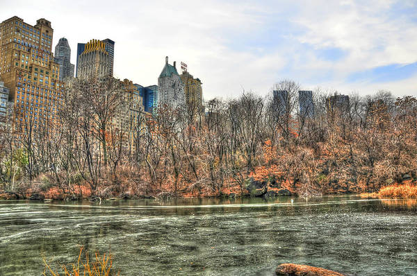 Wall Art - Photograph - The Pond At Central Park In Winter by Randy Aveille