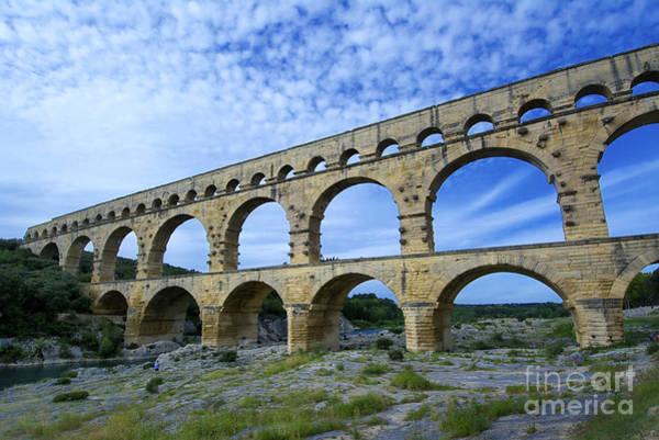 Wall Art - Photograph - The Pont Du Gard.france by Bernard Jaubert