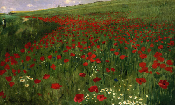 Full Bloom Painting - The Poppy Field by Pal Szinyei Merse