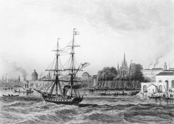 Pier Drawing - The Port Of New Orleans by Charles de Lalaisse