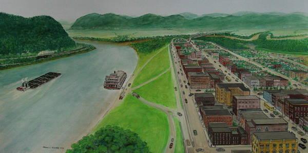 The Portsmouth Ohio Boneyfiddle District 1948 Art Print