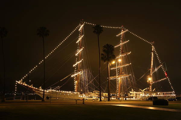 Photograph - The Portuguese Tall Ship Sagres Visits San Diego by Nathan Rupert