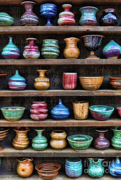 Potters Wheel Wall Art - Photograph - The Potter's Shelf by Lee Dos Santos