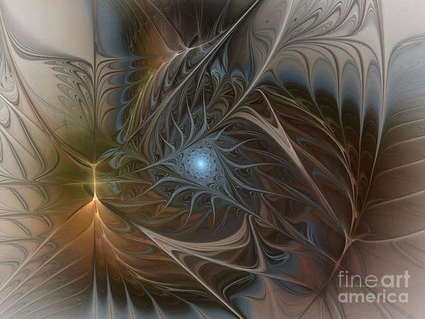 Digital Art - The Power Inside-abstract Fractal Art by Karin Kuhlmann