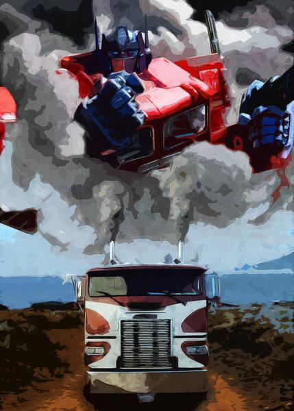 Semi-truck Digital Art - The Power Of Leadership by Daniel Clark