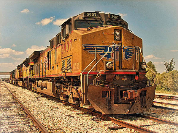 Union Pacific Railroad Wall Art - Photograph - The Powerhouse by Wendy J St Christopher