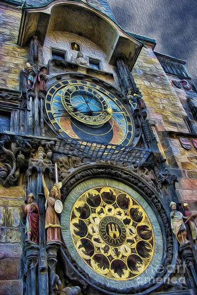 Wall Art - Photograph - The Prague Astronomical Clock IIi by Lee Dos Santos