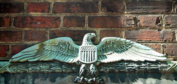 Dumbarton Wall Art - Photograph - The Presidential Eagle Guards Dumbarton House by Cora Wandel