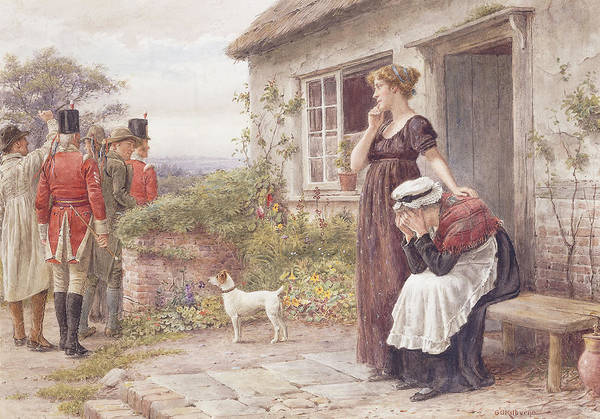 Consolation Wall Art - Painting - The Press Gang by George Goodwin Kilburne
