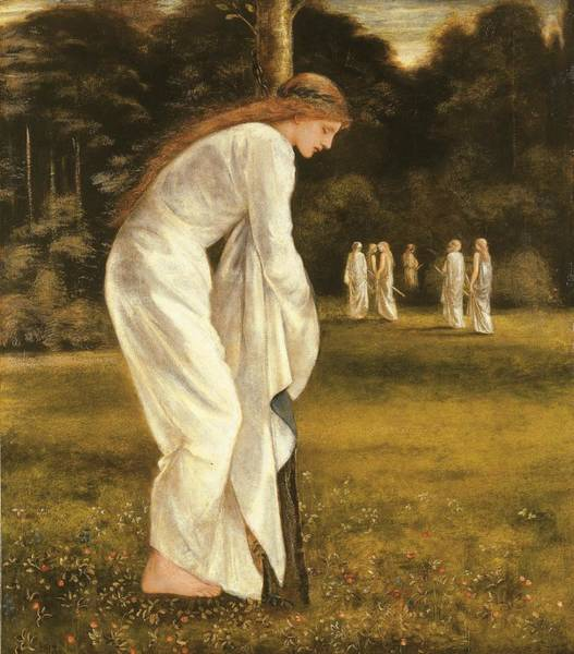 Pre-raphaelites Painting - The Princess Tied To A Tree by Sir Edward Coley Burne-Jones