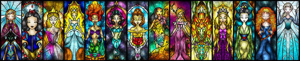 Digital Art - The Princesses by Mandie Manzano